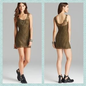 Free People Foiled Again Lace Bodycon Dress